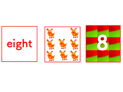 ESL- Christmas Number Cards Game 1 to 10