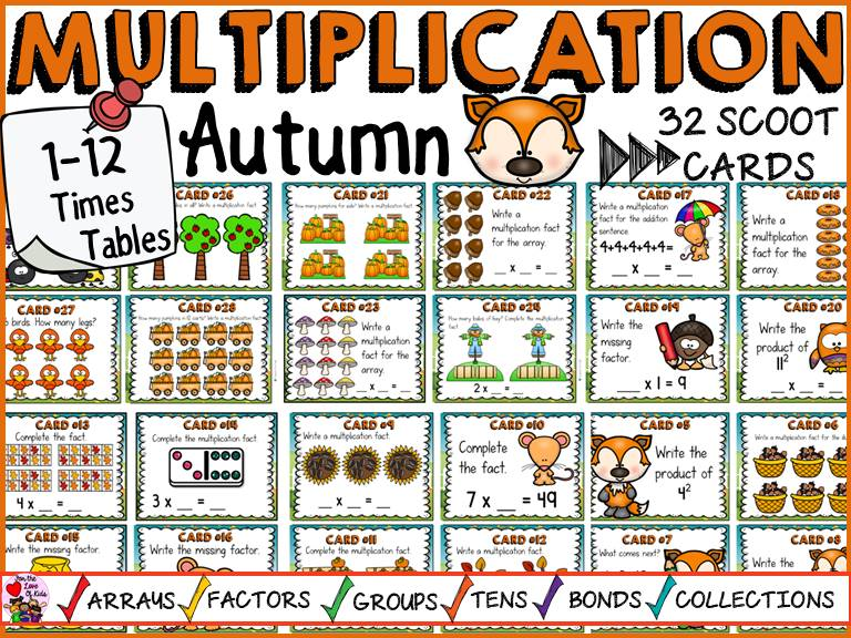 AUTUMN MULTIPLICATION SCOOT
