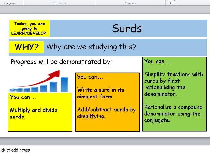 Lesson Progression Slides