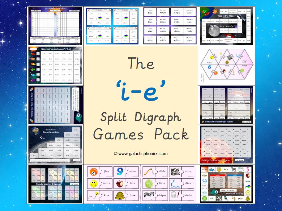 The 'i-e' (split digraph) Phonics Games Pack