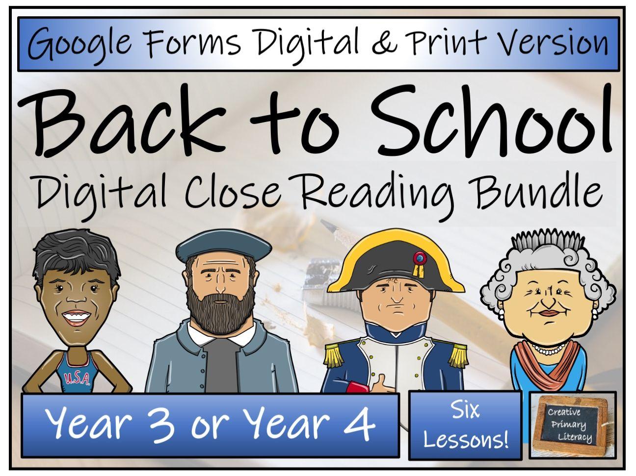LKS2 Back to School Comprehension Bundle Digital & Print