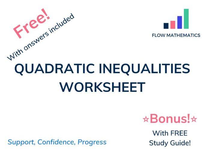 Quadratic inequalities for GCSE