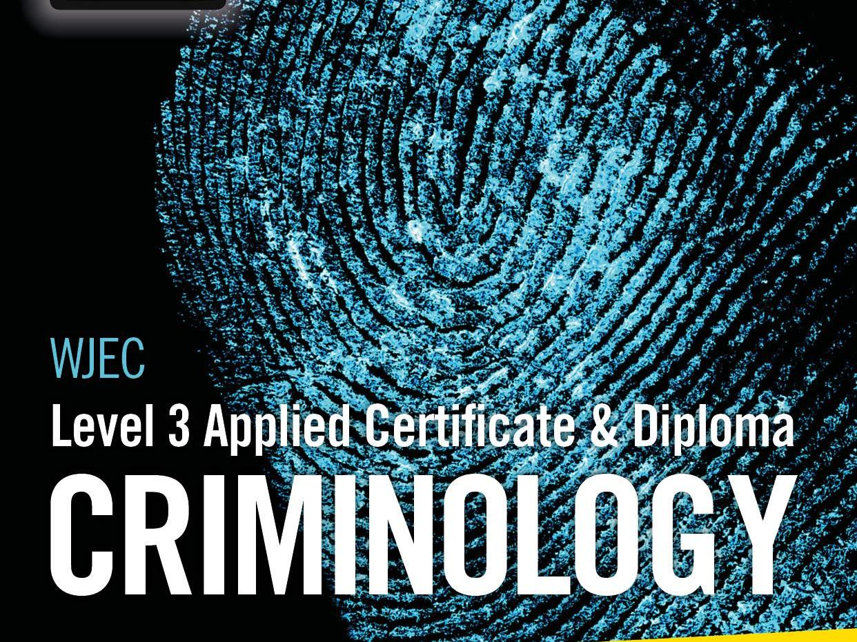 Criminology Task 2 Support sheets WJEC