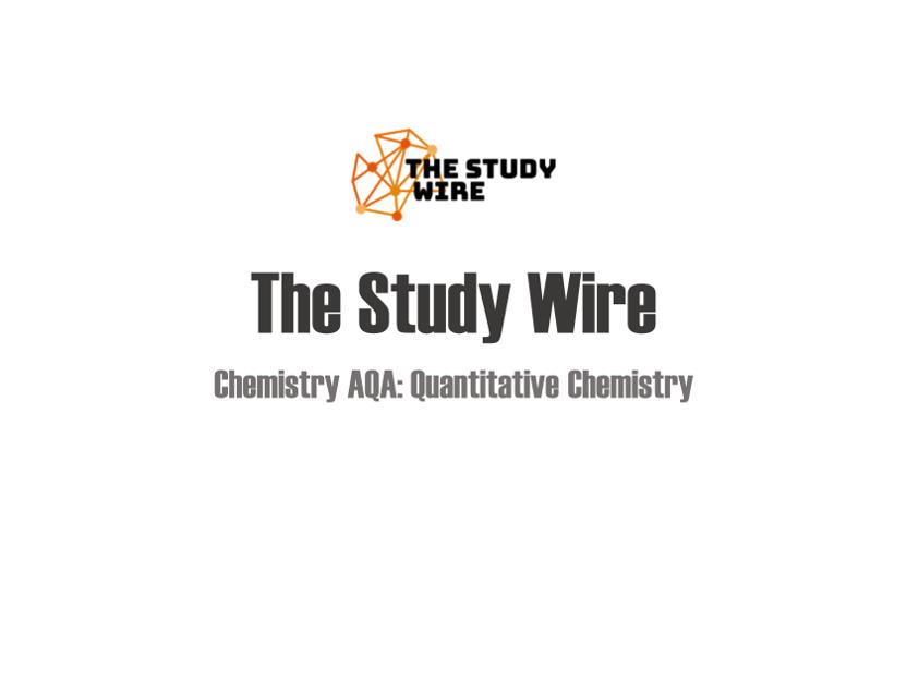 Chemistry placemats: Quantitative chemistry