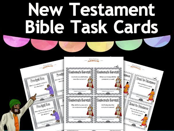 New Testament Bible Task Cards FREEBIE