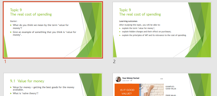 LIBF CEFE Unit 2 Topic 9 The real cost of spending