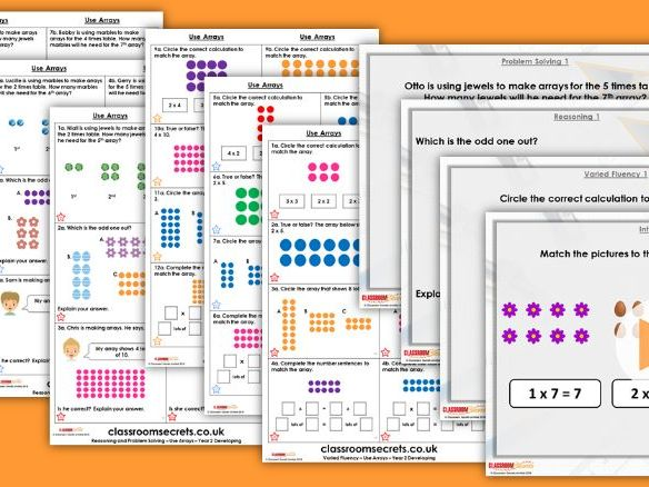 Year 2 Use Arrays Autumn Block 4 Step 6 Lesson Pack
