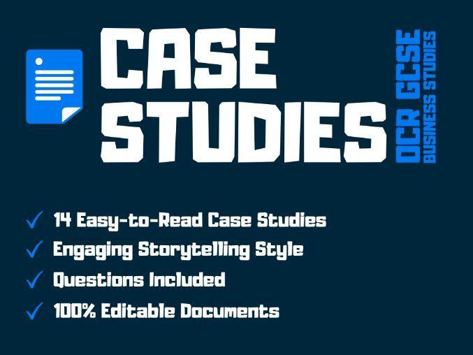 OCR GCSE Business Studies Case Studies for Unit 1 Business Activity