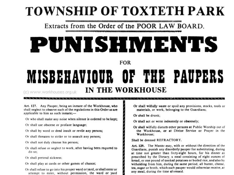 Non fiction text extracts: theme of Victorian workhouses