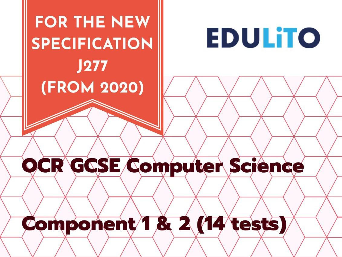 TOPIC TEST BUNDLE (14 Tests) - OCR J277 GCSE COMPUTER SCIENCE