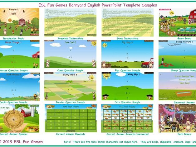 Barnyard Spanish Powerpoint Game Template Free Read Only Show By