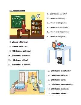 Preposition Test Worksheet Printable | english | Pinterest ...