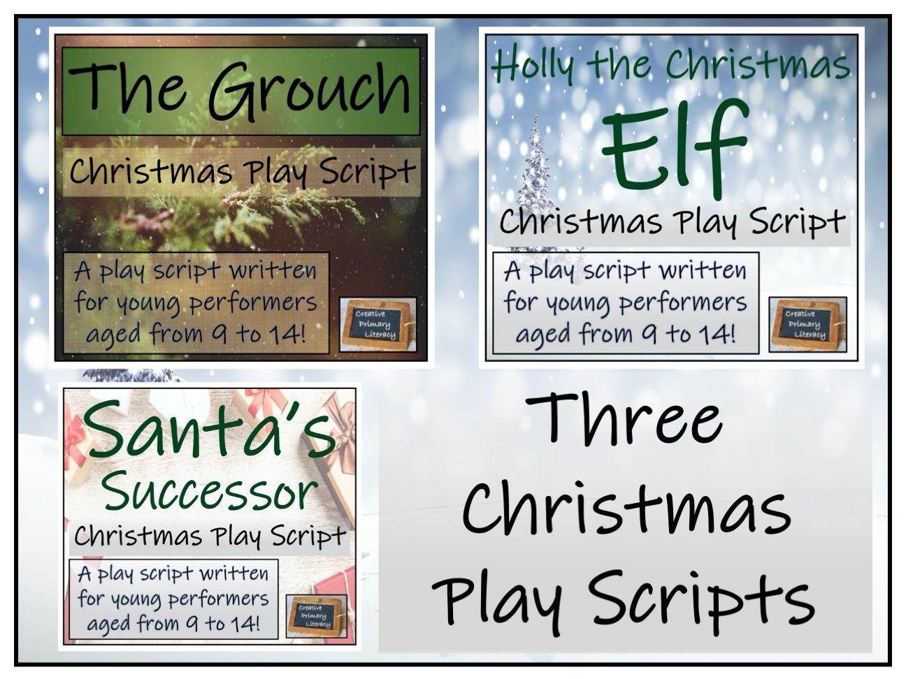 Christmas Play Scripts Bundle Three Modern and Fun Plays