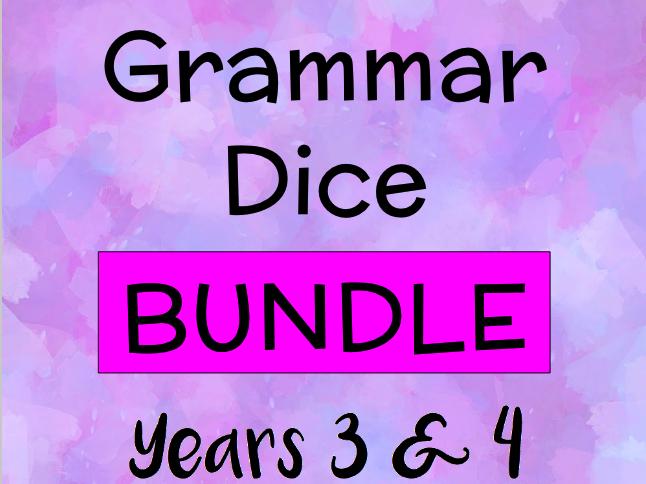 Grammar Dice BUNDLE for Key Stage 2