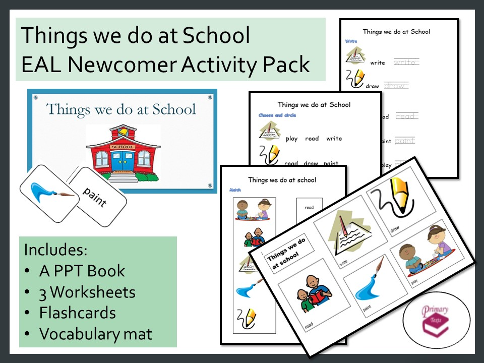 Things we do at School EAL Newcomer Activity Pack