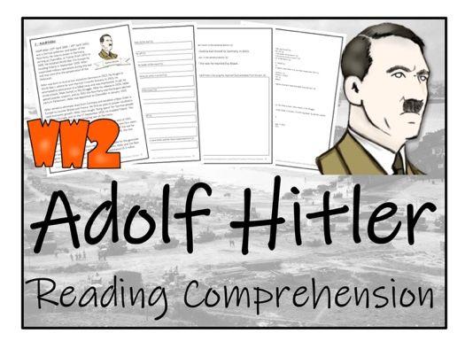 UKS2 History - Adolf Hitler Reading Comprehension Activity