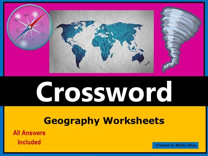 End of Term Geography Crossword