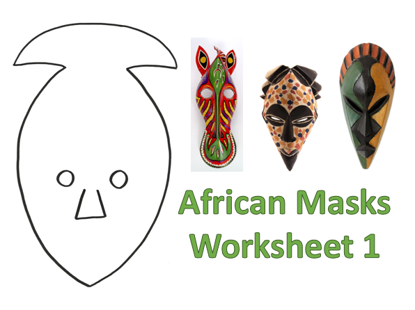 KS3 Art African Masks Worksheet 1