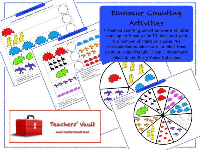Dinosaur Counting Activities