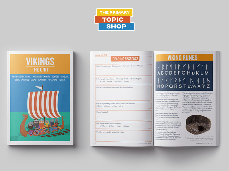 Vikings - Lesson, Worksheet and Activity Bundle