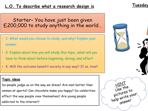 Sociology Research Methods- Introduction to research design/ planning process
