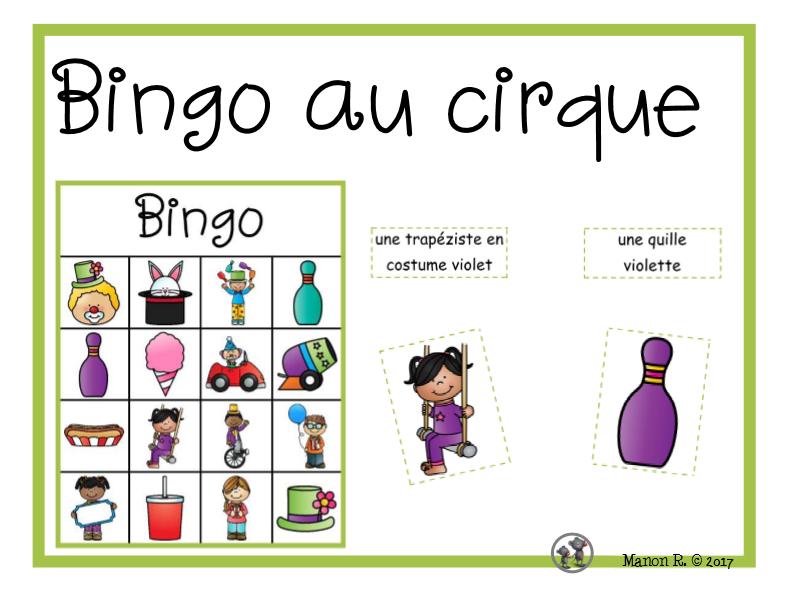 Bingo au cirque  (To the Circus Bingo)