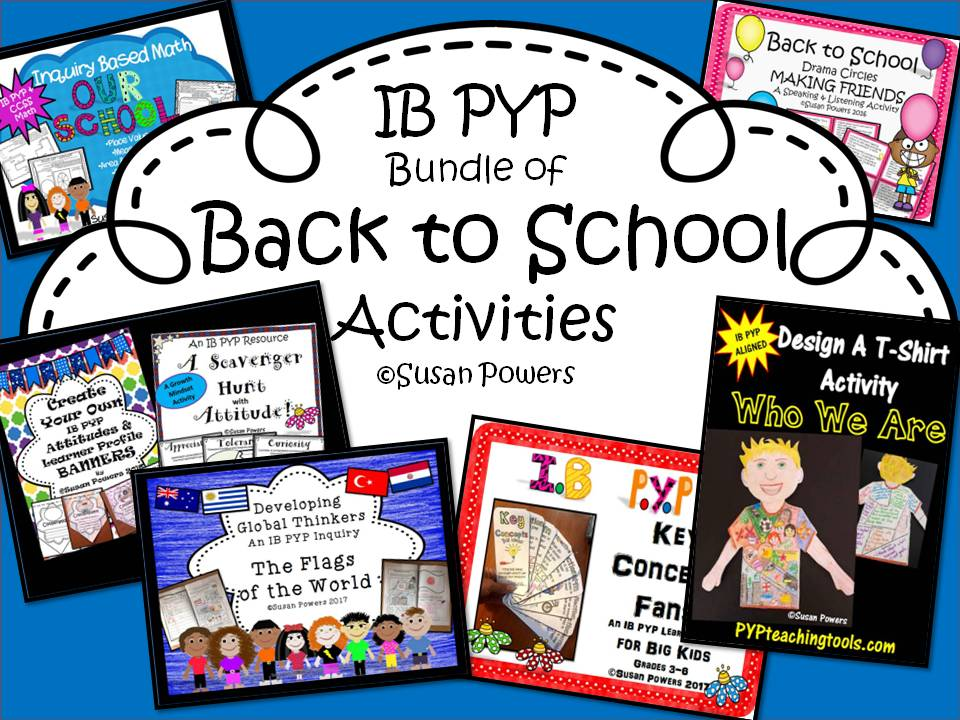 Big Back to School Bundle of IB PYP Activities
