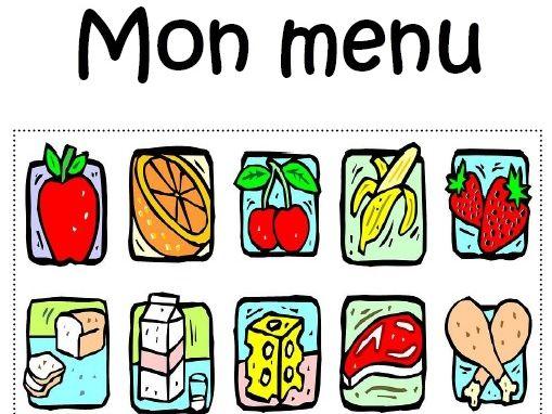 22 page booklet Mon menu