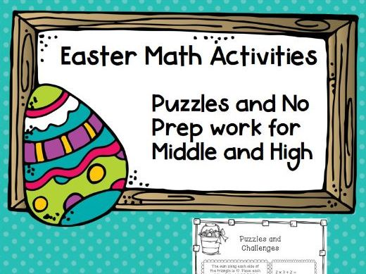 Spring and Easter themed Math Activities NO PREP