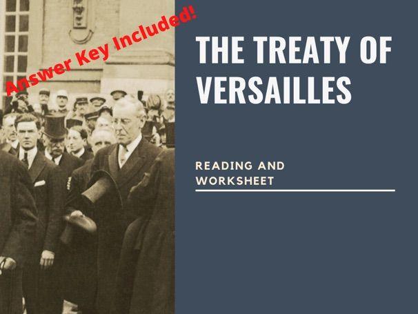 Treaty of Versailles Reading & Worksheet