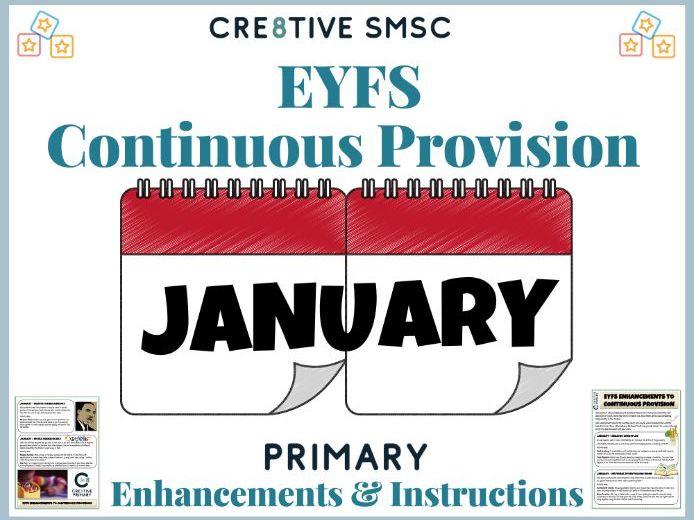 EYFS Pre School Activities - January