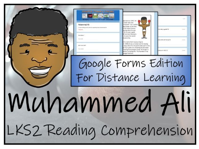 LKS2 Muhammed Ali Reading Comprehension & Distance Learning Activity