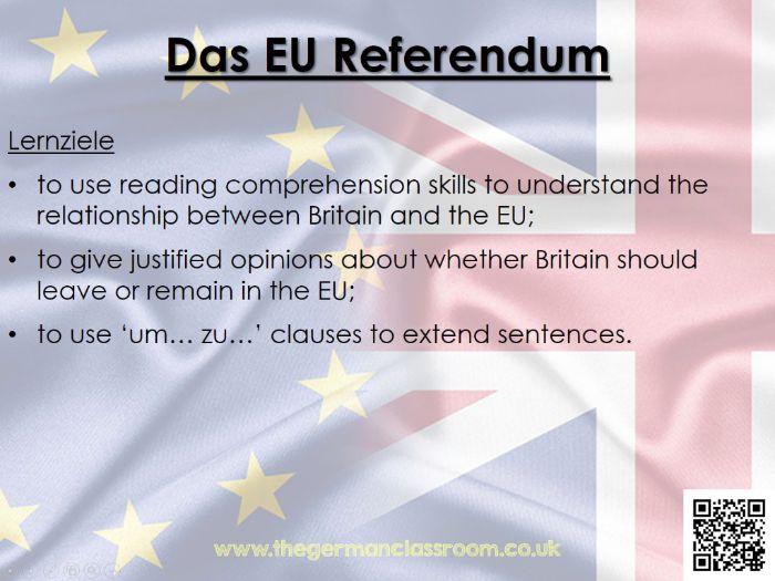 Das EU Referendum