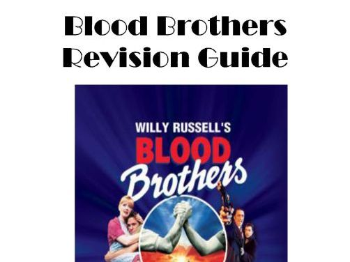 Blood Brothers GCSE Revision Guide - AQA