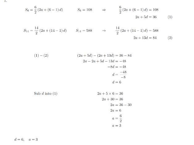 Arithmetic Sequence / Series Worksheet