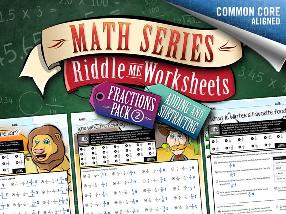 Fractions Worksheets 2: Adding & Subtracting – Riddle-Me-Worksheets