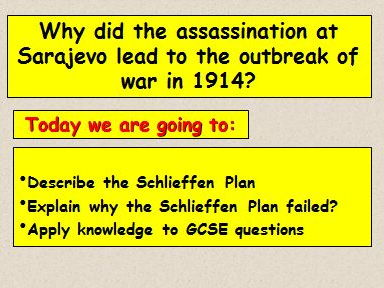 why did the schlieffen plan fail The german army chief of staff, alfred von schlieffen was asked to plan a war on  two fronts his plan was produced in 1905 he believed that it was important to.