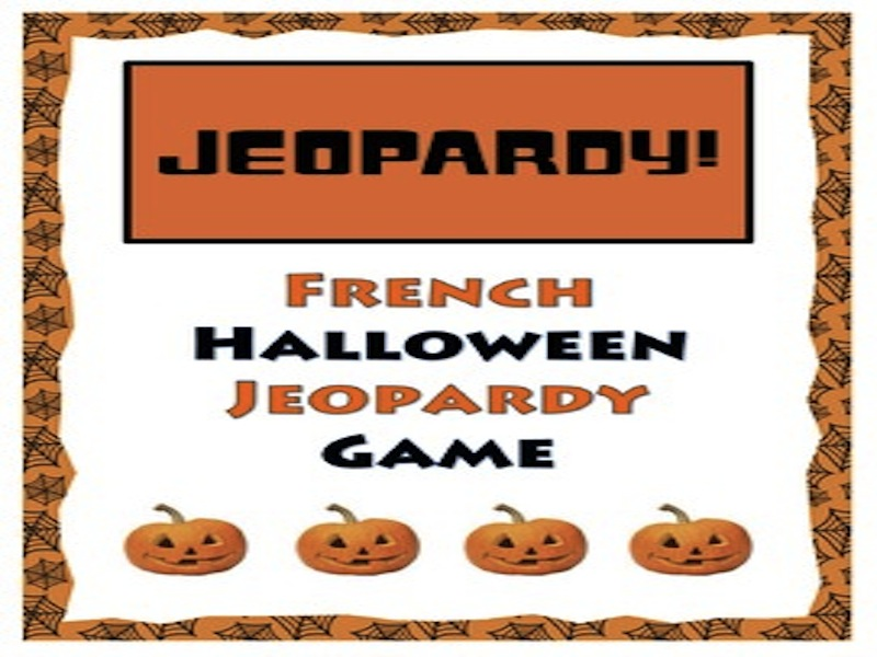 GCSE FRENCH: French Halloween Jeopardy Game - Halloween Français