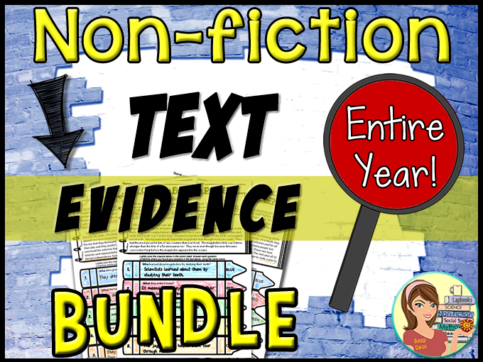 Non-Fiction Passages Text Evidence {BUNDLE ENTIRE YEAR}