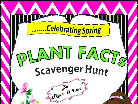 Plant Facts Scavenger Hunt - An Activity