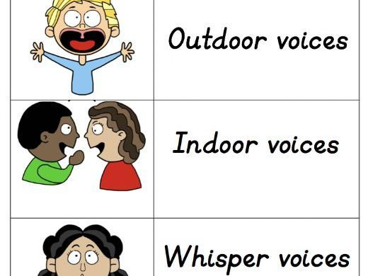 Classroom Voices - Noise control visual