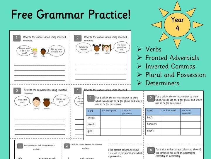 Grammar Practice Year 4