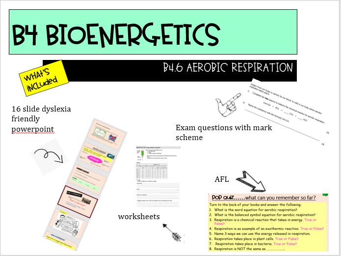 AQA NEW GCSE 9-1 TRILOGY COMBINED SCIENCE B4.6 Aerobic respiration