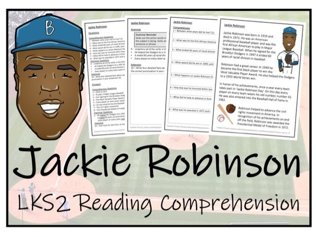 LKS2 History - Jackie Robinson Reading Comprehension Activity