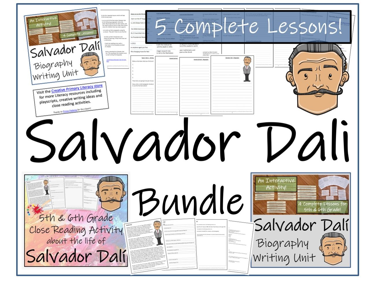 UKS2 Literacy - Bundle of Salvador Dali Activities
