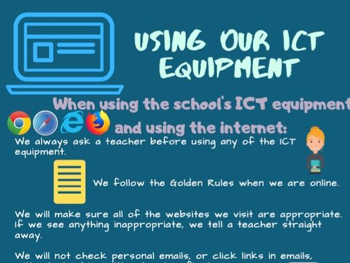 Using ICT equipment poster (Child friendly)