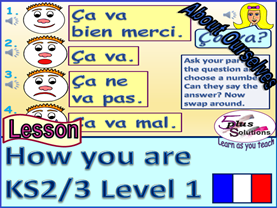 PRIMARY FRENCH LESSON (KS2/3): How are you? -  question and responses.
