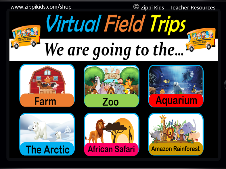 Virtual Field Trips - Set 1 | Animals | Fun Fridays - 38 Google Slides
