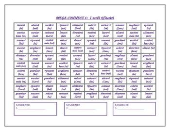 Verbi riflessivi (Italian Reflexive verbs) Mega Connect 4 game