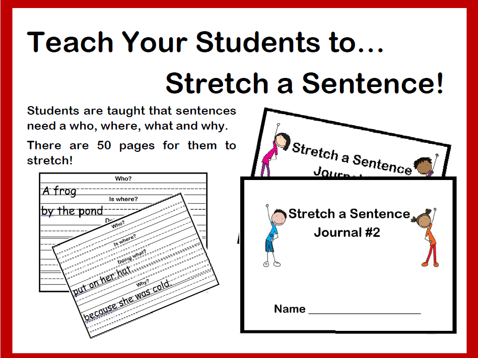 Stretch a Sentence Primary Writing Activity